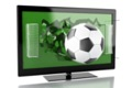 animated picture of 3d tv with football