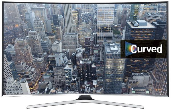 picture of the curved Samsung UE40J6300 television